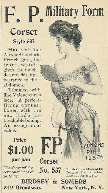 reclama corset 1901