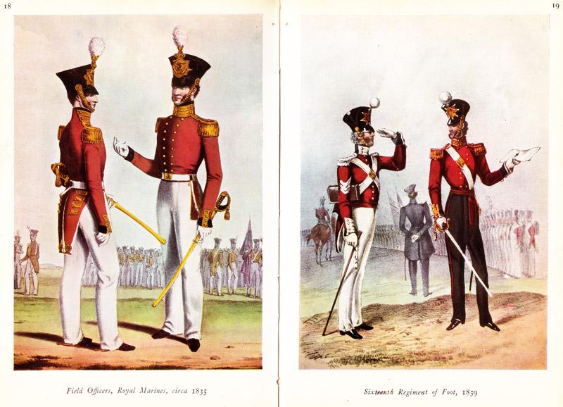 Uniformele britanice de la inceputul secolului al XIX-lea